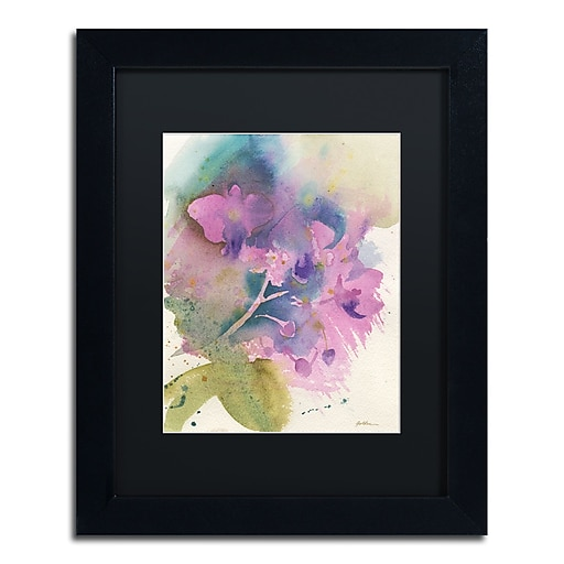 "Trademark Fine Art ''Orchid Dream'' by Sheila Golden 11"" x 14"" Black Matted Black Frame (SG5738-B1114BMF)"