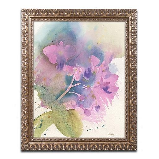 "Trademark Fine Art ''Orchid Dream'' by Sheila Golden 16"" x 20"" Ornate Frame (SG5738-G1620F)"