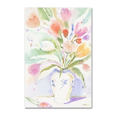 Trademark Fine Art ''The Vase of Tulips'' by Sheila Golden 12