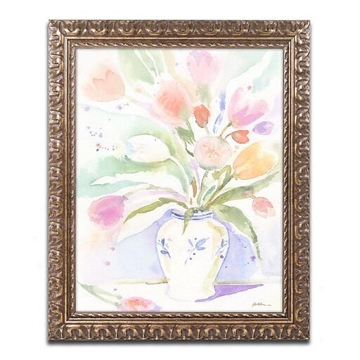 "Trademark Fine Art ''Purple Vase Reflection'' by Sheila Golden 16"" x 20"" Ornate Frame (SG5739-G1620F)"