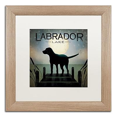 Trademark Fine Art ''Moonrise Black Dog Labrador Lake'' by Ryan Fowler 16