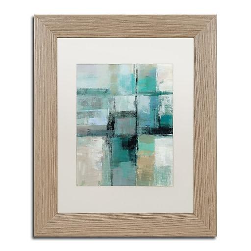 "Trademark Fine Art ''Island Hues Crop I'' by Silvia Vassileva 11"" x 14"" White Matted Wood Frame (WAP0130-T1114MF)"