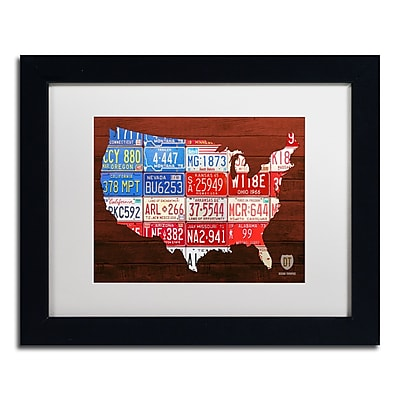Trademark Fine Art ''USA Flag Map'' by Design Turnpike 11