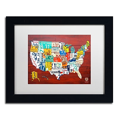 Trademark Fine Art ''License Plate Map USA'' by Design Turnpike 11