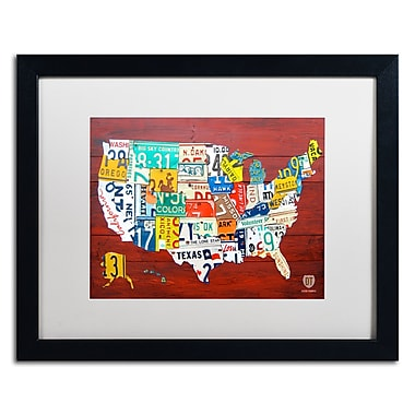 Trademark Fine Art ''License Plate Map USA'' by Design Turnpike 16