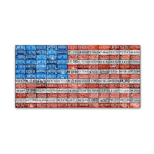 "Trademark Fine Art ''Michigan Flag'' by Design Turnpike 24"" x 47"" Canvas Art (ALI1247-C2447GG)"