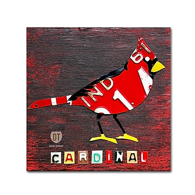 Trademark Fine Art ''Indiana Cardinal'' by Design Turnpike 24