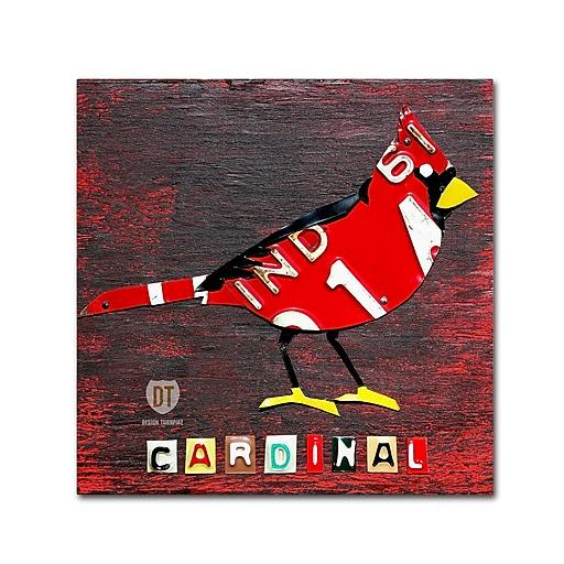 "Trademark Fine Art ''Indiana Cardinal'' by Design Turnpike 24"" x 24"" Canvas Art (ALI1250-C2424GG)"