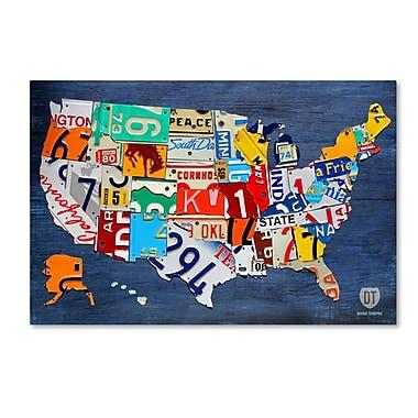Trademark Fine Art ''USA Map'' by Design Turnpike 12
