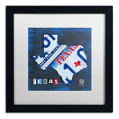 Trademark Fine Art ''Texas License Plate Map'' by Design Turnpike 16
