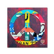 "Trademark Fine Art ''Peace'' by Design Turnpike 18"" x 18"" Canvas Art (ALI1260-C1818GG)"
