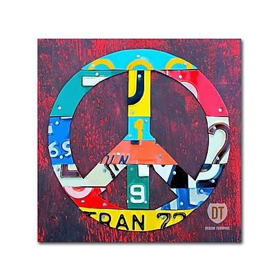 Trademark Fine Art ''Peace'' by Design Turnpike 18
