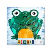 "Trademark Fine Art ''Ribbit the Frog'' by Design Turnpike 24"" x 24"" Canvas Art (ALI1265-C2424GG)"