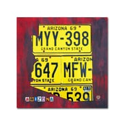 "Trademark Fine Art ''Arizona License Plate'' by Design Turnpike 24"" x 24"" Canvas Art (ALI1266-C2424GG)"