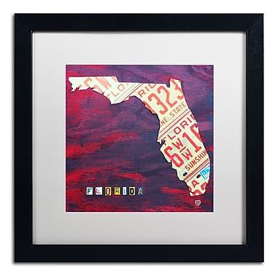 Trademark Fine Art ''Florida License Plate'' by Design Turnpike 16