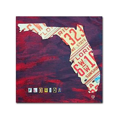Trademark Fine Art ''Florida License Plate'' by Design Turnpike 35