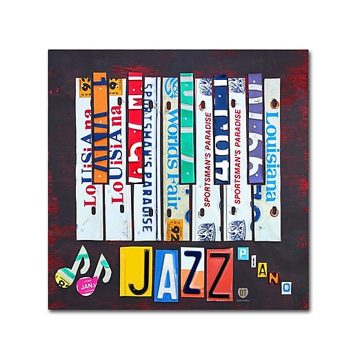 "Trademark Fine Art ''Jazz Series Piano'' by Design Turnpike 24"" x 24"" Canvas Art (ALI1268-C2424GG)"