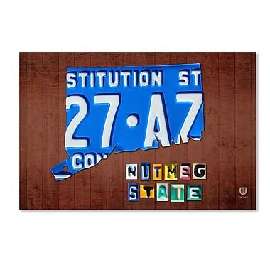 Trademark Fine Art ''Connecticut License Plate'' by Design Turnpike 22