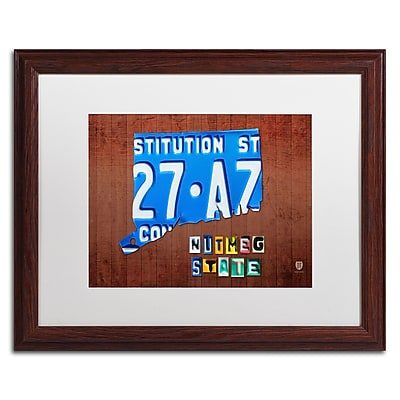 Trademark Fine Art ''Connecticut License Plate'' by Design Turnpike 16