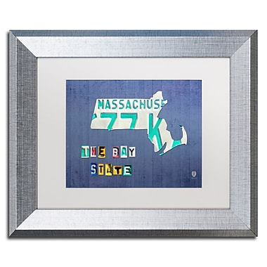 Trademark Fine Art ''Massachusetts License Plate'' by Design Turnpike 11