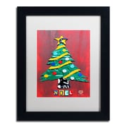 "Trademark Fine Art ''Noel Christmas Tree'' by Design Turnpike 11"" x 14"" White Matted Black Frame (ALI1274-B1114MF)"