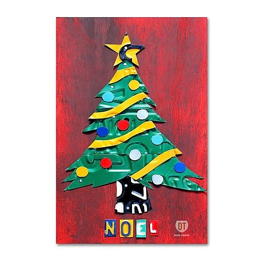 "Trademark Fine Art ''Noel Christmas Tree'' by Design Turnpike 30"" x 47"" Canvas Art (ALI1274-C3047GG)"