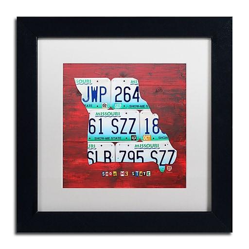 "Trademark Fine Art ''Missouri'' by Design Turnpike 11"" x 11"" White Matted Black Frame (ALI1276-B1111MF)"