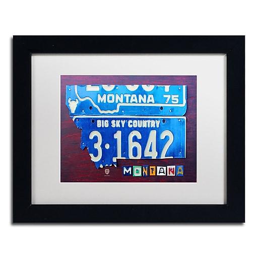"Trademark Fine Art ''Montana'' by Design Turnpike 11"" x 14"" White Matted Black Frame (ALI1277-B1114MF)"