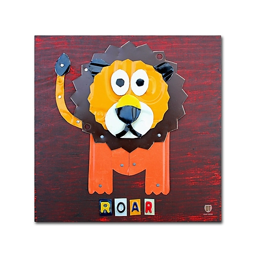 "Trademark Fine Art ''Roar The Lion'' by Design Turnpike 35"" x 35"" Canvas Art (ALI1281-C3535GG)"