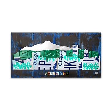 Trademark Fine Art ''Portland Skyline License Plate'' by Design Turnpike 24
