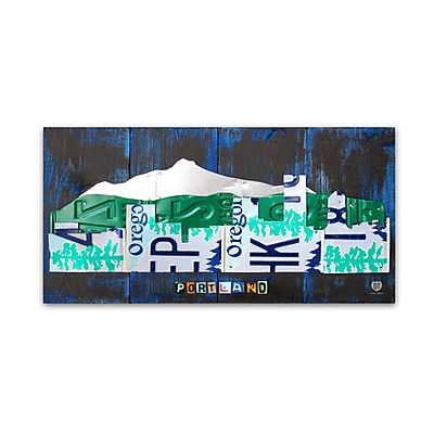 Trademark Fine Art ''Portland Skyline License Plate'' by Design Turnpike 16