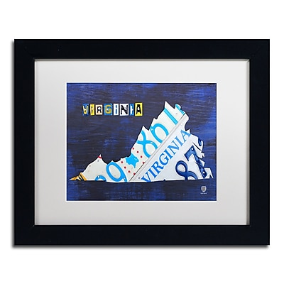 Trademark Fine Art ''Virginia License Plate Map'' by Design Turnpike 11