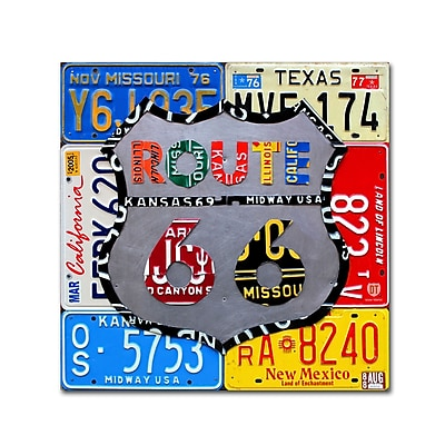 Trademark Fine Art ''Route 66 Road Sign'' by Design Turnpike 35