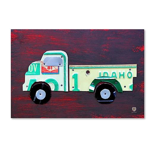 "Trademark Fine Art ''Pickup Truck'' by Design Turnpike 30"" x 47"" Canvas Art (ALI1286-C3047GG)"