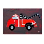 "Trademark Fine Art ''Tow Truck'' by Design Turnpike 12"" x 19"" Canvas Art (ALI1287-C1219GG)"