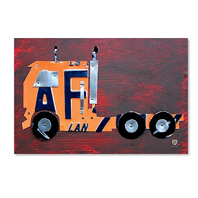Trademark Fine Art ''Semi Truck'' by Design Turnpike 30