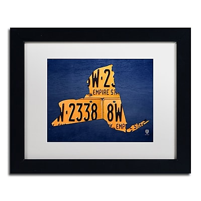 Trademark Fine Art ''New York License Plate Map'' by Design Turnpike 11