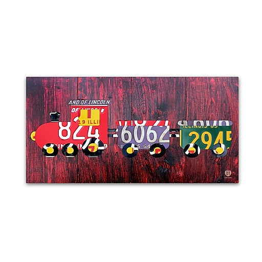 "Trademark Fine Art ''Choo Choo'' by Design Turnpike 12"" x 24"" Canvas Art (ALI1293-C1224GG)"