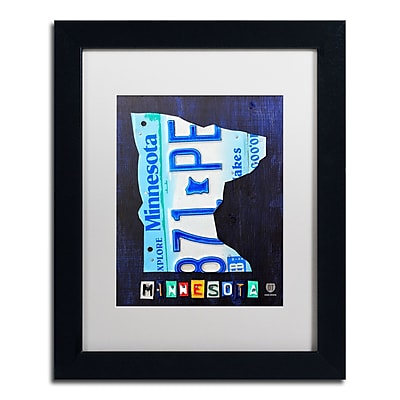 Trademark Fine Art ''Minnesota License Plate Map'' by Design Turnpike 11