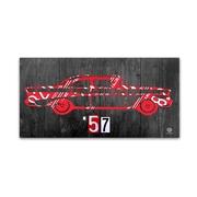 "Trademark Fine Art ''57 Chevy License Plate Art'' by Design Turnpike 16"" x 32"" Canvas Art (ALI1299-C1632GG)"