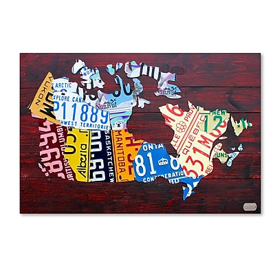 Trademark Fine Art ''Canada License Plate Map'' by Design Turnpike 16