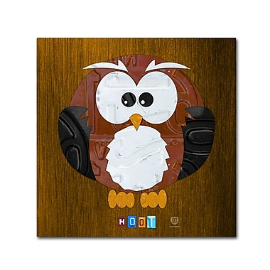 Trademark Fine Art ''Hoot The Owl'' by Design Turnpike 14