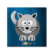 "Trademark Fine Art ''Meow The Cat'' by Design Turnpike 24"" x 24"" Canvas Art (ALI1303-C2424GG)"