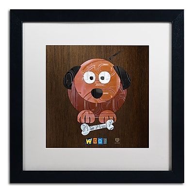 Trademark Fine Art ''Woof The Dog'' by Design Turnpike 16