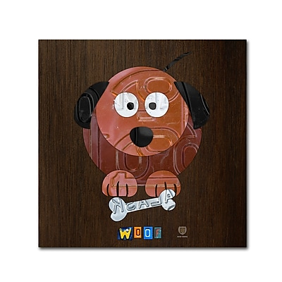 Trademark Fine Art ''Woof The Dog'' by Design Turnpike 14