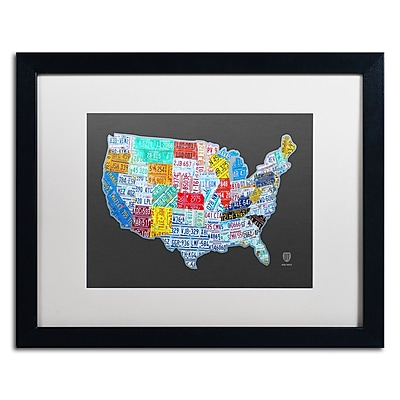 Trademark Fine Art ''Massive USA License Plate Map'' by Design Turnpike 16
