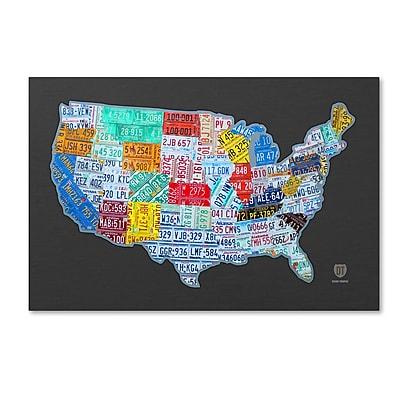 Trademark Fine Art ''Massive USA License Plate Map'' by Design Turnpike 22