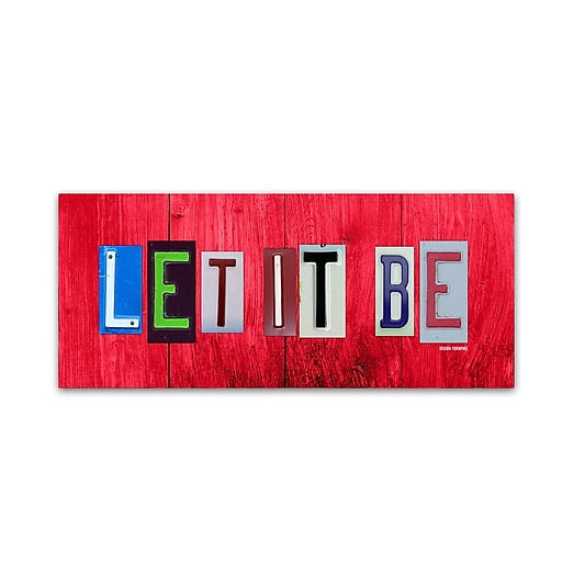 "Trademark Fine Art ''Let It Be'' by Design Turnpike 8"" x 19"" Canvas Art (ALI1308-C819GG)"
