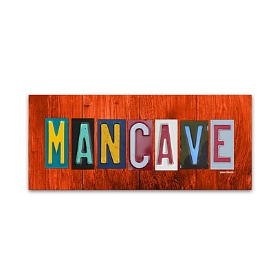 """""Trademark Fine Art ''Man Cave'' by Design Turnpike 20"""""""" x 47"""""""" Canvas Art (ALI1309-C2047GG)"""""" 2083918"