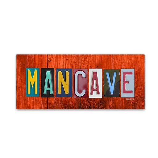 "Trademark Fine Art ''Man Cave'' by Design Turnpike 20"" x 47"" Canvas Art (ALI1309-C2047GG)"